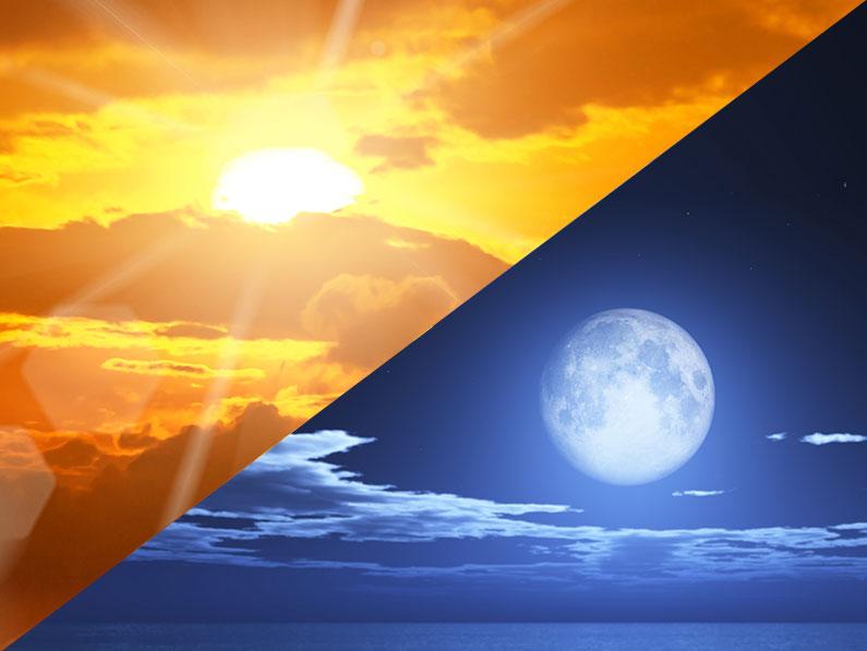 Cuarto día: El sol y la luna